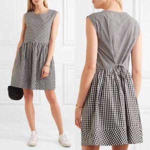 Madewell Tie Back Cotton Gingham Dress Sz XL✨